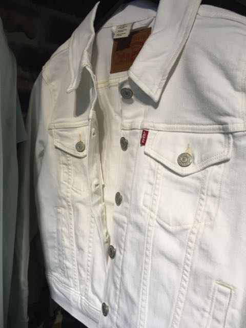 White Denim Levis Jacket - 1