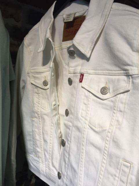 White Denim Levis Jacket - 1