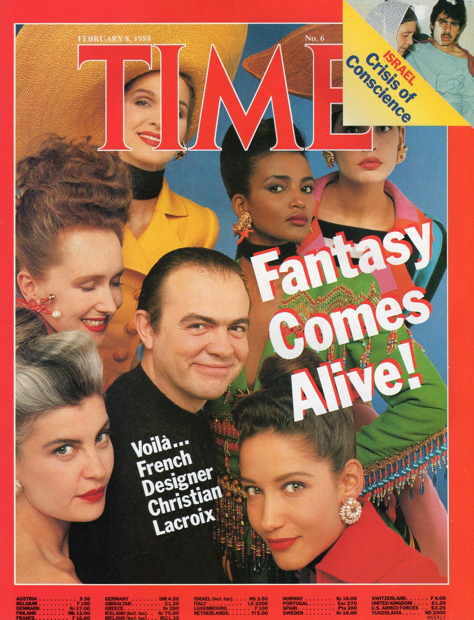 Time magazine, Christian Lacroix, modelling, Haute Couture
