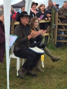 crowd, people, cowboy hat, Martin Clunes, Esmeralda Voegele-Downing, clapping, wellington boots