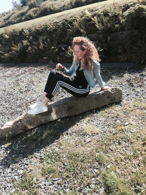 Adidas, tracksuit bottoms, sweatpants, trainers, Stan Smiths, red curly hair, denim, jean jacket,cornwall