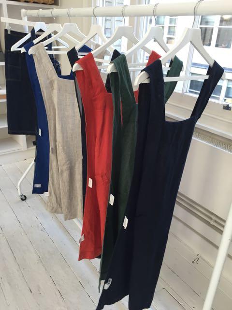 pinafores, aprons, dresses