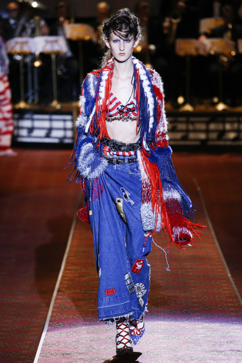 Marc Jacobs, denim, Jeans, primary colours, red, white, blueAmerican fashion designer