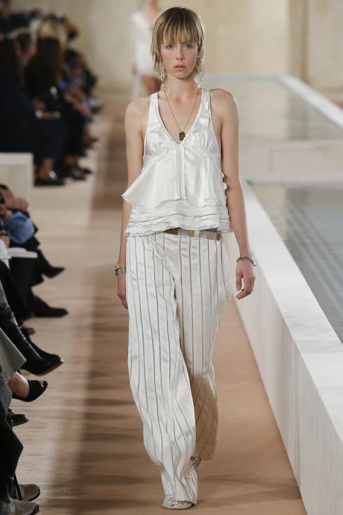 Balenciaga, Spring Summer ready to wear 2016, Women's fashion, white pyjama, lace