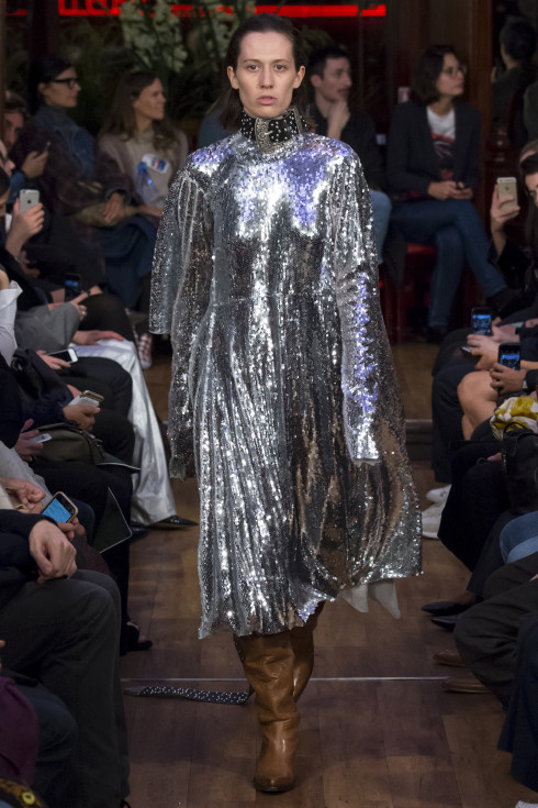 Sparkly dress, sequinned dress, Vetements French fashion house, womens ready to wear S/S 2016