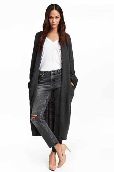 H&M, H&M knitwear, boyfriend cardigan, anthracite grey cardigan