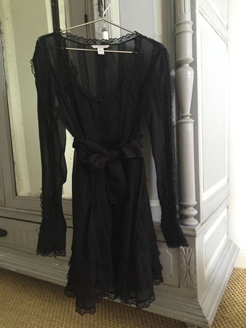 H+M Karl Lagerfeld collaboration, black lace dress, frills