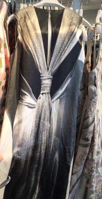 H&M Conscious Exclusive, Musee Des Arts Decorative, Palais de Louvre, evening dress, troupe l'oeuil, monochrome clothes, woman, women's clothes
