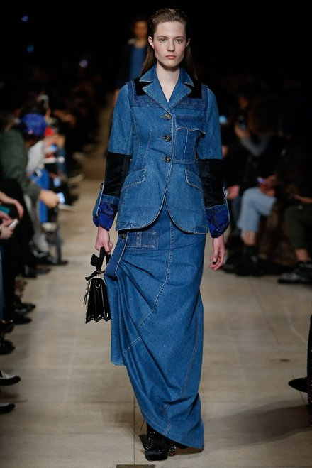 Miu Miu denim, denim jacket, denim skirt,