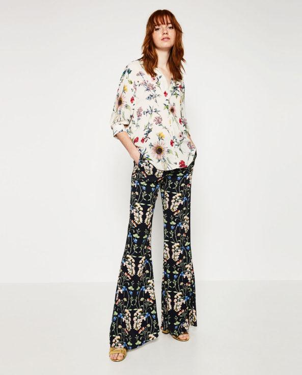 Zara, Zara floral silky shirt, floral shirt