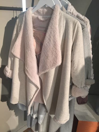Faux Fur jacket, M+S , M+S faux fur bed jacket, short deconstructed jacket