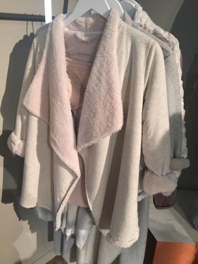 Faux Fur jacket, M+S , M+S faux fur bed jacket, short deconstructed jacket