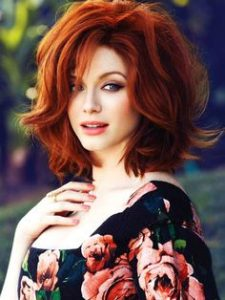 Christina Hendricks, redhead, the bob hairstyle,