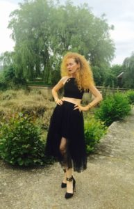 Topshop tutu, Asos shoes, Asos evening top, Mrs V, themodeledit.com, Vanessa Voegele-Downing
