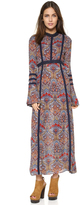 Rag and Bone designs, long sleeved maxi dress, dress, boho , flowery dress, long flowery dress, midi dress