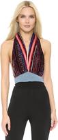 Rodarte, Paisley halter neck top, paisley, evening top, summer top, women clothes