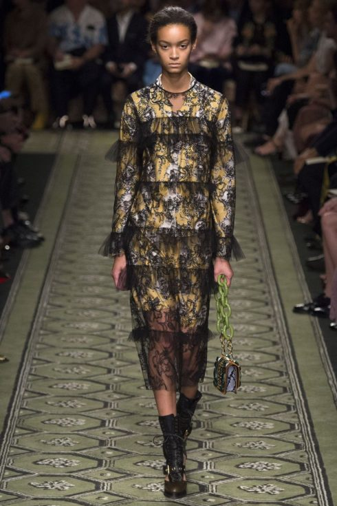 Burberry AW2017, transparent dress,