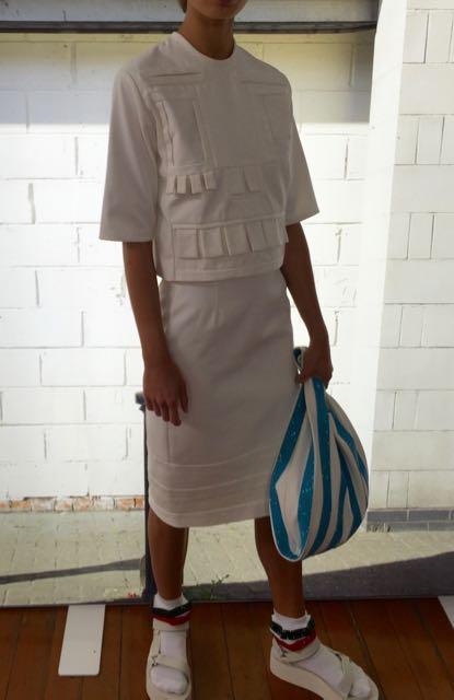 Adeline Lee white skirt suit, LFW, SS2017, White, Mrs V, www.themodeledit.com, Vanessa Voegele-Downing