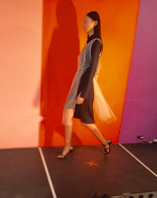J JS Lee SS2017, LFW, London Fashion Week, transparent dress, organza, tulle dress
