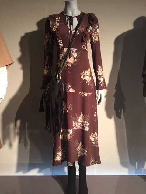 M&S, A/W 2016, Mrs V, www.themodeledit.com, Vanessa Voegele-Downing,Boho midi dress, floral dress, leather shoulder bag, handbag
