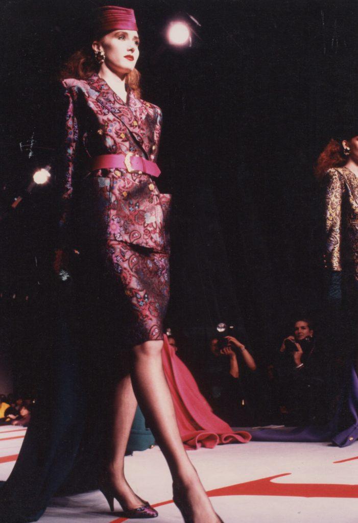 Valentino , Brocade skirt suit, Italian womenswear designer, Vanessa Voegele-Downing,