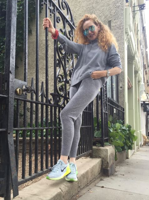 Ille de Cocos cashmere wool blend grey tracksuit, Hoody, sweatpants, cashmere, wool, Ray Bans