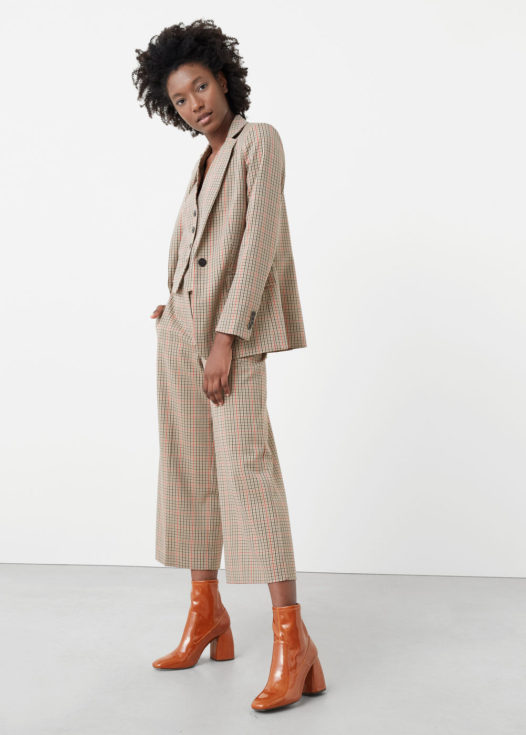 Mango, Mango 3 piece women's trouser suit, cropped trousers
