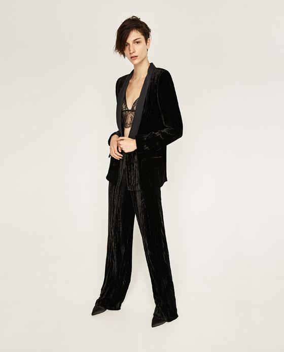 Zara, Zara Tuxedo jacket, lace bra