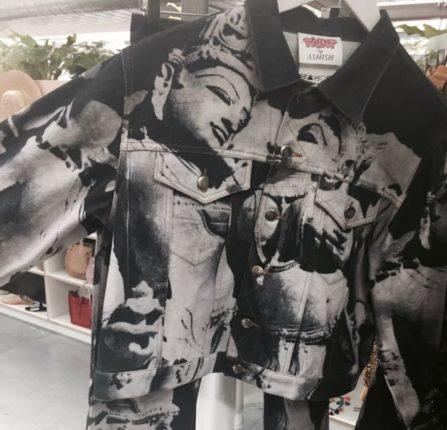 Ashish SS 2017, Ashish monochrome printed Denim, Jean Jacket, denim jacket, designer Denim