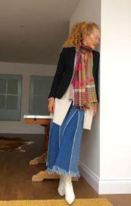 Wallace Sewell, Carine Roitfeld, pinstriped jacket, tailored jacket, boyfriend cardigan, Kettlewell, Mrs V, Vanessa Voegele-Downing, www.themodeledit.com