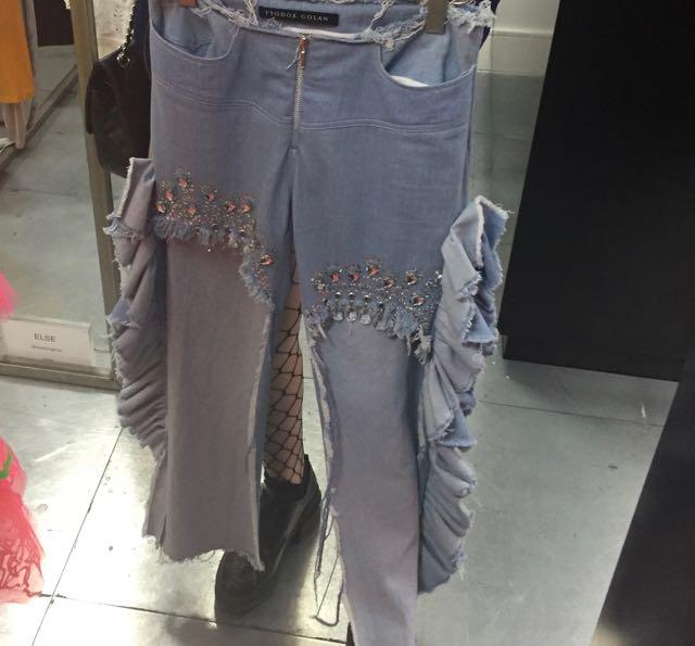 Fyodor Golan SS2017, Denim, designer denim, jeans, Mrs V, www.themodeledit.com, Vanessa Voegele-Downing