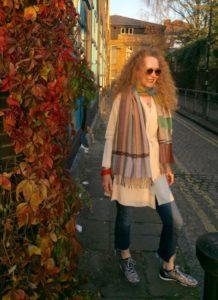 Kettlewell Merino wool jacket, Boyfriend cardigan, wool, cardigan, Wallace Sewell scarf, Denim, Jeans, RayBan sunglasses