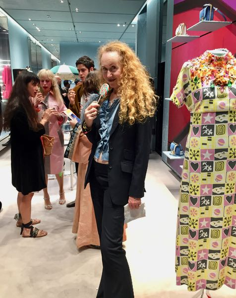 Miu Miu, candy lolly, trouser suit, celebrities, designer clothes, Miu Miu S/S 2017