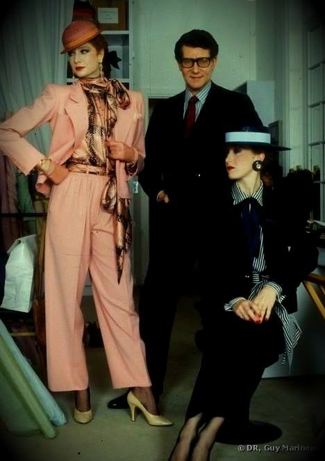 Yves Saint Laurent, French Fashion Designer, French Couturier, Vanessa Voegele-Downing, www.themodeledit.com, women in suits, women in trouser suits, models, Loulou de La Falaise