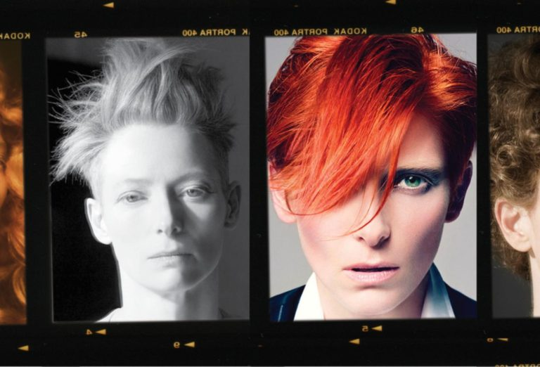 Tilda Swinton, David Bowie, Sam McKnight Exhibition at Somerset House 2017, hairstyles, celebrity hairstylist, Sam McKnight