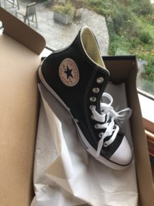 Converse, Chuck Norris Converse All Stars, Black Leather Converse High Tops, black trainers, sports shoes, athletic wear, athleisure