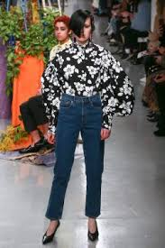 Ashley Williams, Ashley Williams A/W 2017, Denim, Jeans, floral shirt, press show, London Fashion Week