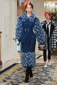 Chanel A/W 2017, Distressed Denim, Chanel A/W 2017 distressed denim coat, belted denim coat, denim coat