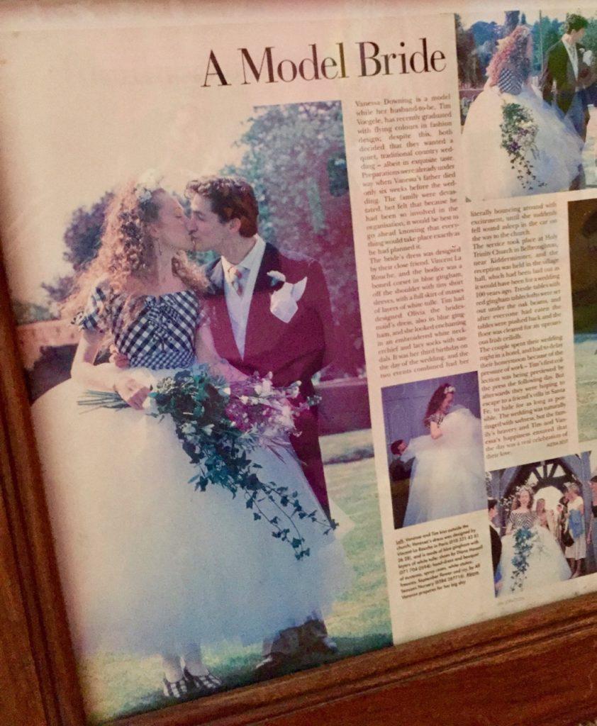 Vanessa Voegele-Downing, Tim Voegele-Downing, Vanessa and Tim Voegele-Downing, Wedding Dress, Gingham, Tulle, Tutu, Tutu style Wedding Dress,