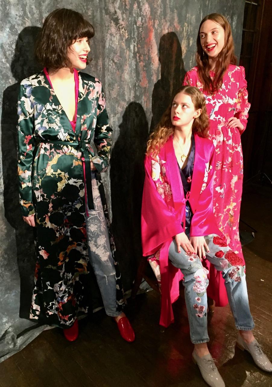 Alice Archer A/W 2017, Alice Archer British Designer, Alice Archer Silk Kimono, Alice Archer Womenswear, designer clothing