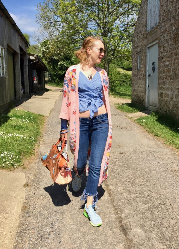 New Look Floral Kimono, Kimono, Frayed Jeans, Trainers, Levis
