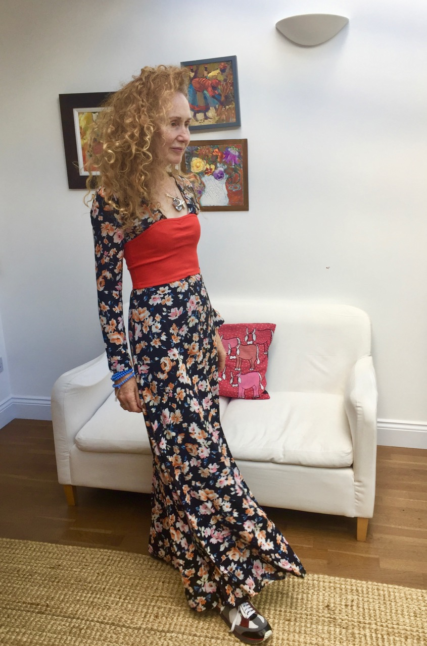 Missguided, Missguided Floral Maxi Dress, maxi dress, floral maxi dress, cropped top, bustier, boob tube