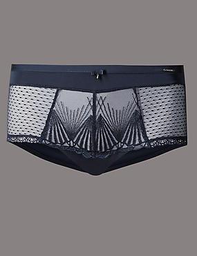 M&S lingerie, ladies lingerie short, lace underwear, women's knickers, panties