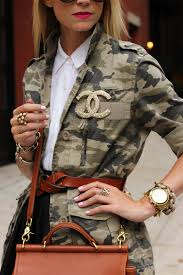 Chanel Camouflage Jacket, Came fashion, Women's Camouflage jacket, Chanel